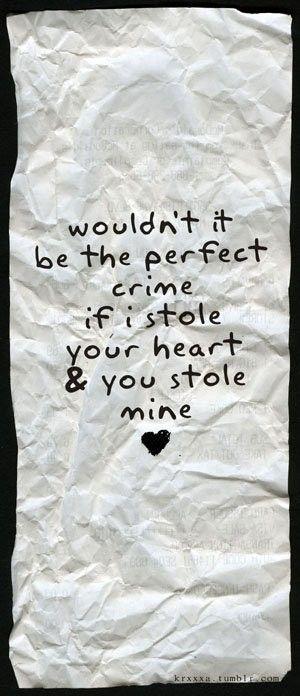 the perfect crime <3
