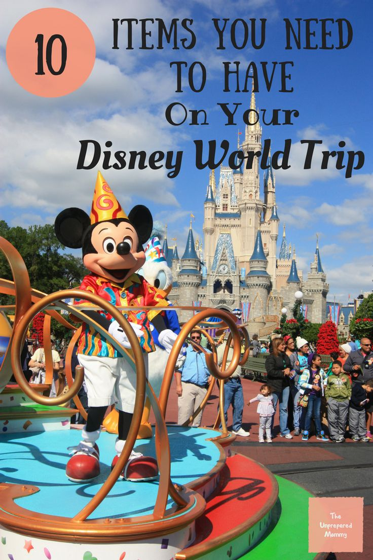 If you are heading to Disney World, you will definitely need to have these 10 items with you. Have a fantastic time at Disney World! Pack for Disney | Disney vacation | Disney trip