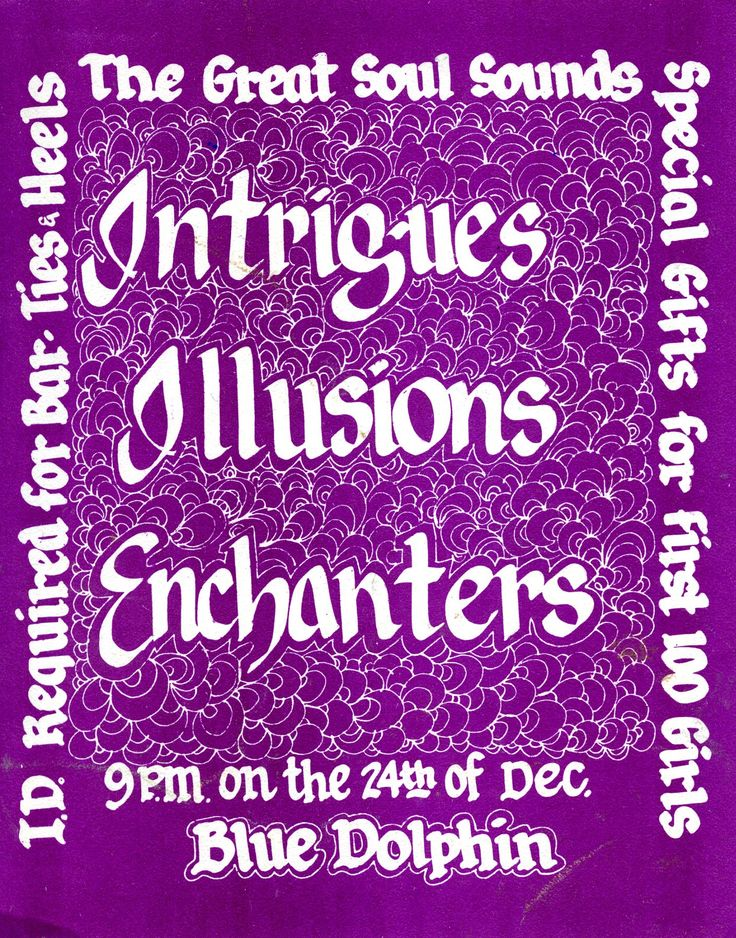 The Intrigues, The Illusions, and The Enchanters at the Blue Dolphin in San Leandro, CA.  (inside)
