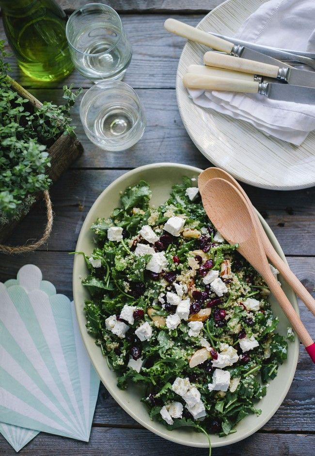 Kale salad with lemon and hemp seed vinaigrette  Photography Amanda Reelick
