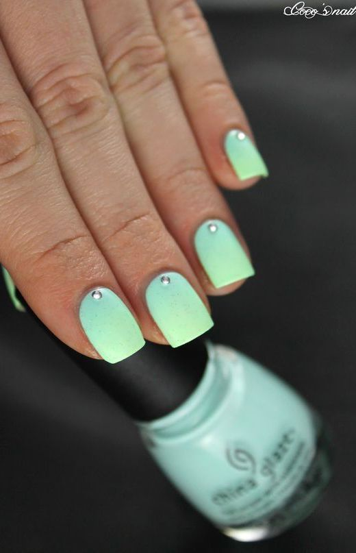 cool 17 Fashionable Mint Nail Designs for Summer - crazyforus