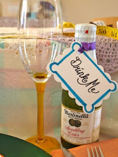 Mad Hatter Tea Baby Shower LOVELOVELOVE the sparkling cider idea