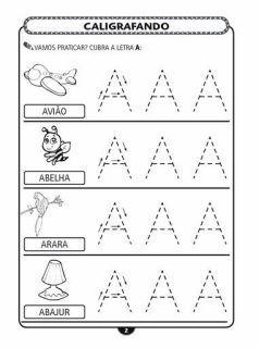 exercícios de caligrafia alfabeto completo | Visite o novo blog: http://coisasdepro.blogspot.com.br/