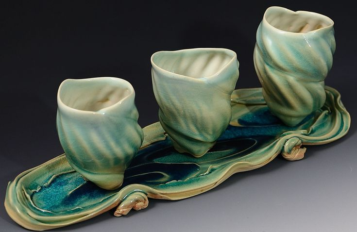 Yunomi Shell Trio    Catherine Rehbein  Drink This! Workhouse Clay International Cup
