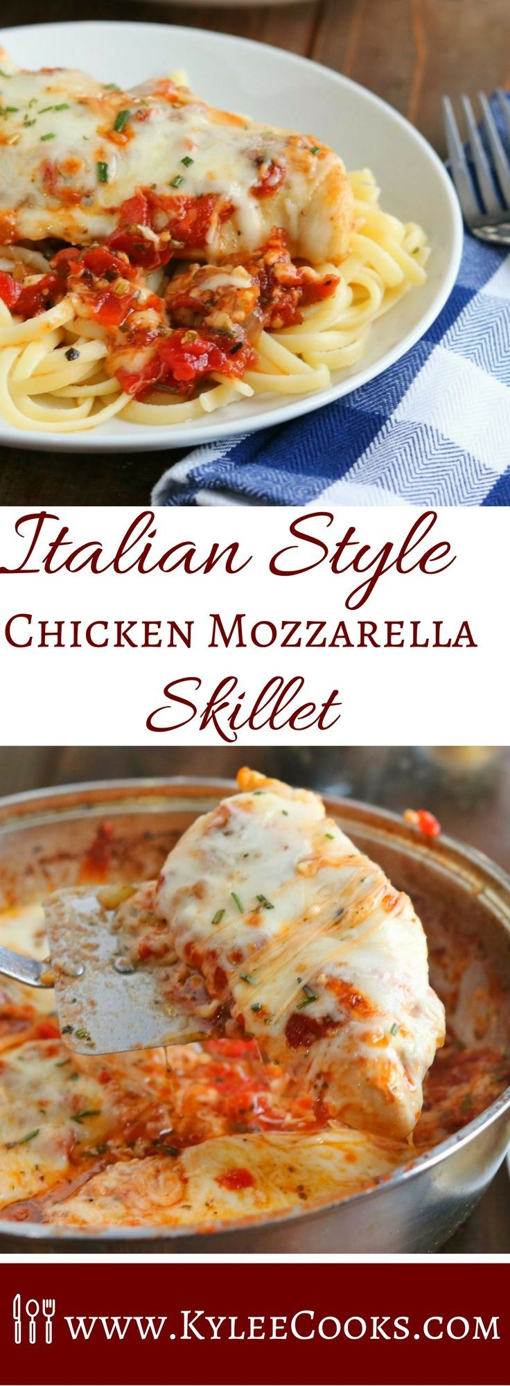 A rich, tomato based sauce made from scratch, linguine pasta, and chicken - all topped with melty mozzarella cheese. What is not to love? (Nothing. The answer is NOTHING).