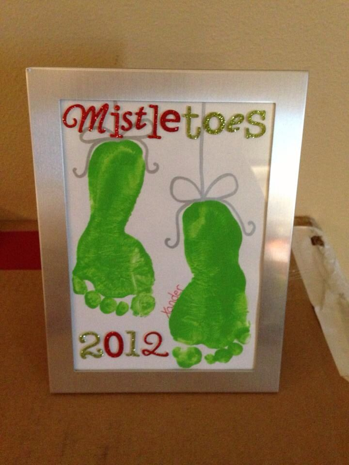 Mistletoes - How cute! We could do this next year with baby Max!