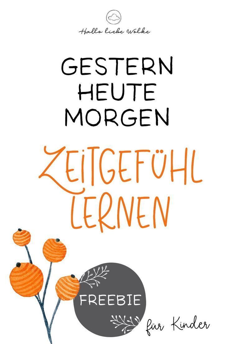 GESTERN – HEUTE – MORGEN: Kindern das Zeitgefühl beibringen. (Lerngeschichte & Printable)