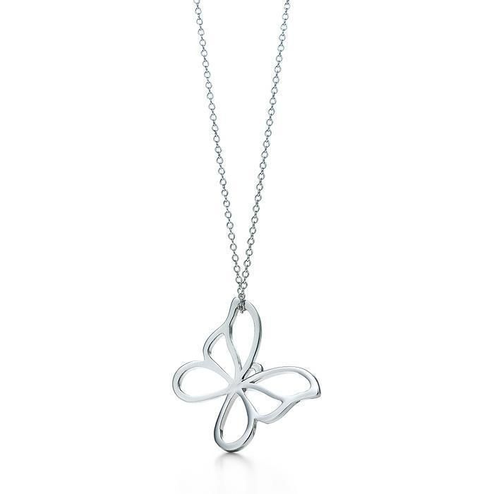 Tiffany  Co Butterfly Necklace