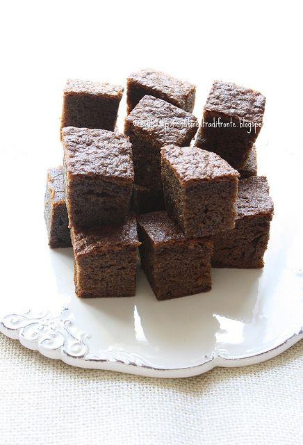 Brownies al caffè by Una finestra di fronte, via Flickr