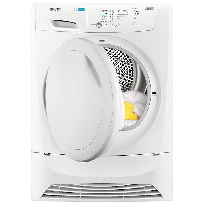 Buy Zanussi LINDO ZDP7203 Condenser Freestanding Tumble Dryer, 7kg Load, B Energy Rating, White Online at johnlewis.com