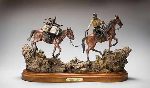 Bronze Sculpture Ranch Trail by James Regimbal