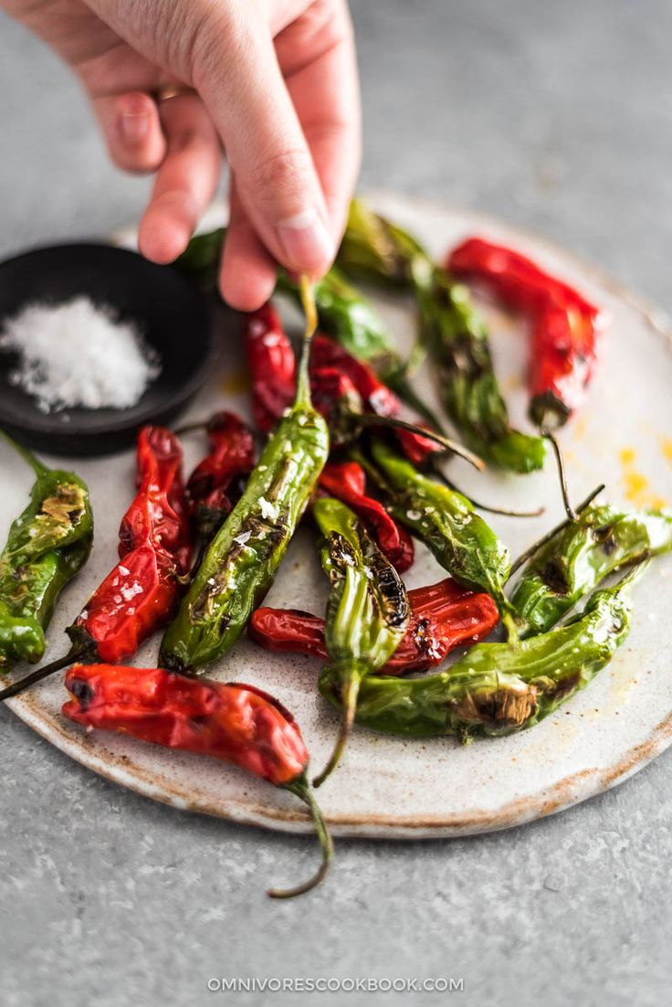5-Minute Blistered Shishito Peppers - This is quickest way to create perfectly charred and blistered shishito peppers. No broiler or grill needed!