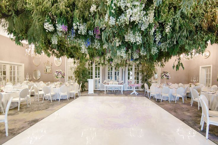 Floral ceiling by Splendid Wedding Company at The Four Seasons Westcliff