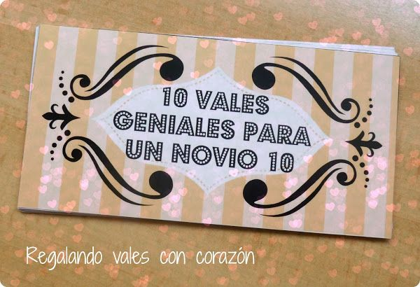 10 vales geniales para un novio 10 (DIY) | Aprender manualidades es facilisimo.com
