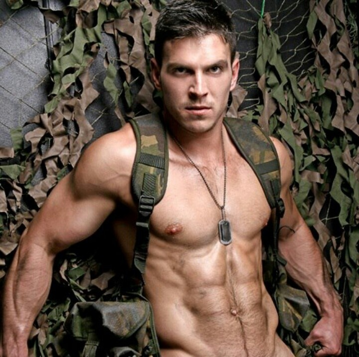 Gay sexy muscular military men naked black 6