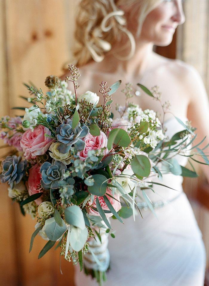 Wedding Bouquet Inspiration Textured Bouquet Eucalyptus