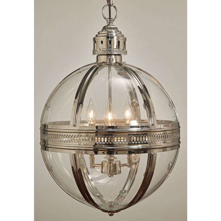 Abbyson Bentley Glass Globe Chandelier Clear