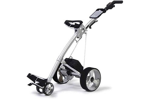 Enjoy walking the course but don't relish carrying the golf bag? This innovative self propelled electric golf caddy does the work, 27 holes on a single charge. Caddy folds for easy transport and fits in easily into any car trunk.