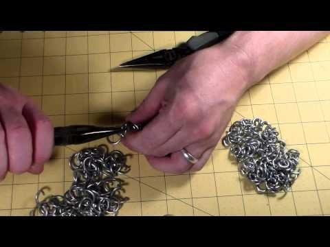 How to Make a Dragonscale Weave Chainmail Pattern - YouTube