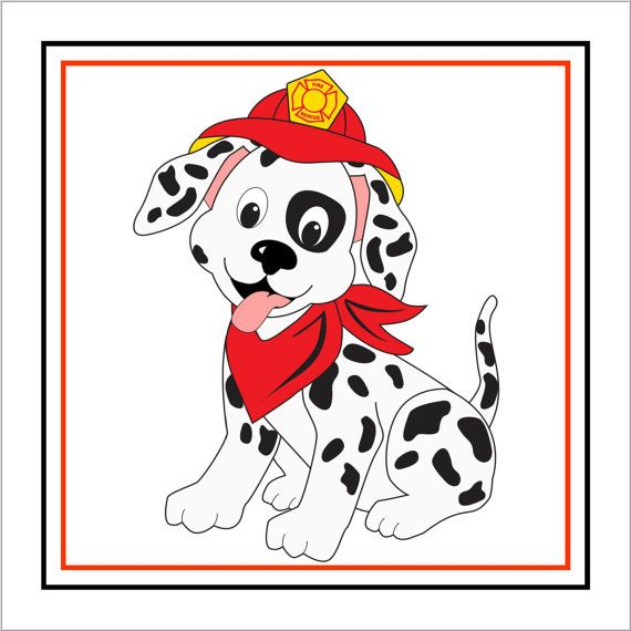 Dalmatian Fire Clipart fire truck dalmatian printable centerpiece by