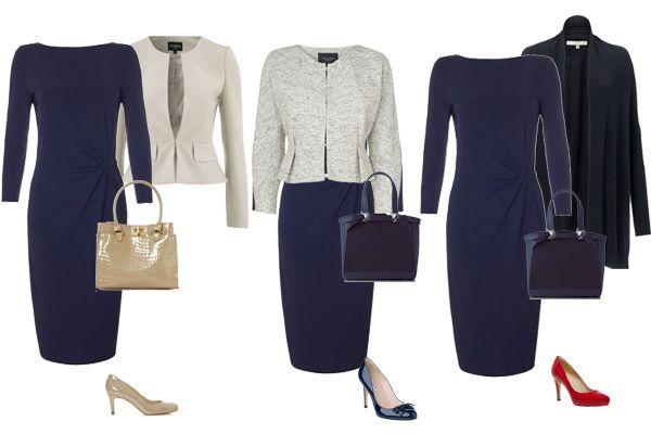 Executive business wear - one dress 3 ways