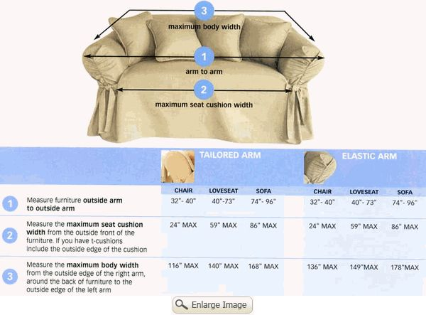 Surefit Ready Made Slipcovers for Sofas, Loveseats & Chairs - Questions about Size & Fit ( FAQ )