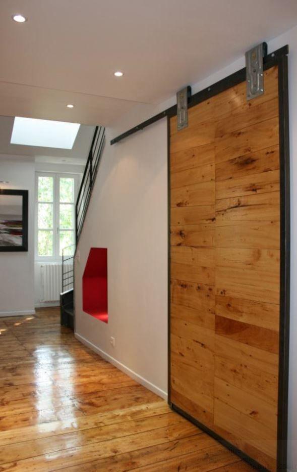 Plus de 1000 id es propos de porte coulissante pour curie sur pinterest - Fabriquer une porte de grange ...