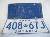 Ontario 1968 Licence License Plate,  408-67j  for SALE, ONLY $15.00 on http://greenspotantiques.com