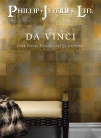 Da Vinci wallpaper by Phillip Jeffries - Tray Ceiling Metallic Leaf - Horizon…