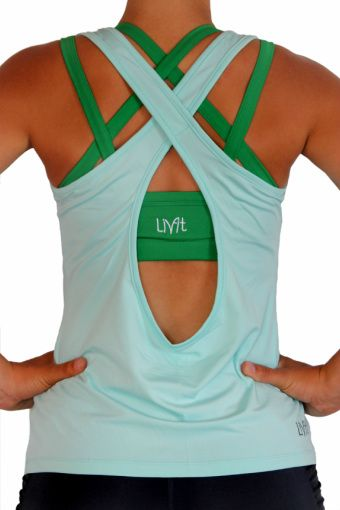 Workout clothes that are just as cute as, but less expensive than Lululemon... LivFit Clothing. I'll have to remember this!
