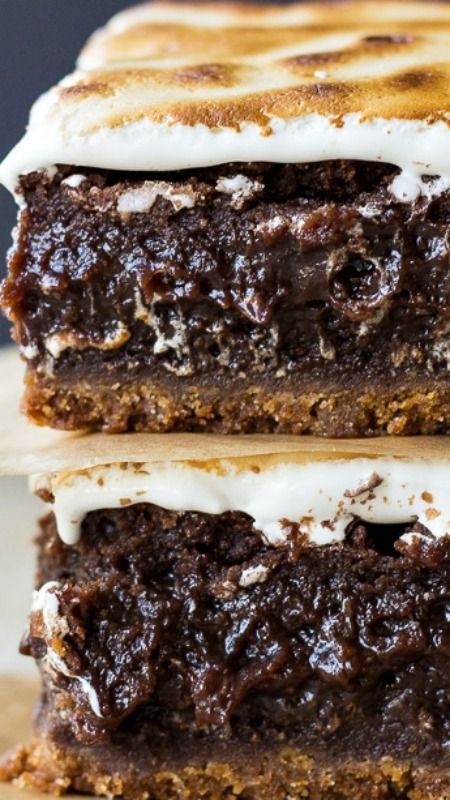 Decadent S'mores Brownies ~ the ultimate brownie treat... Seriously rich, sweet and fudgy!