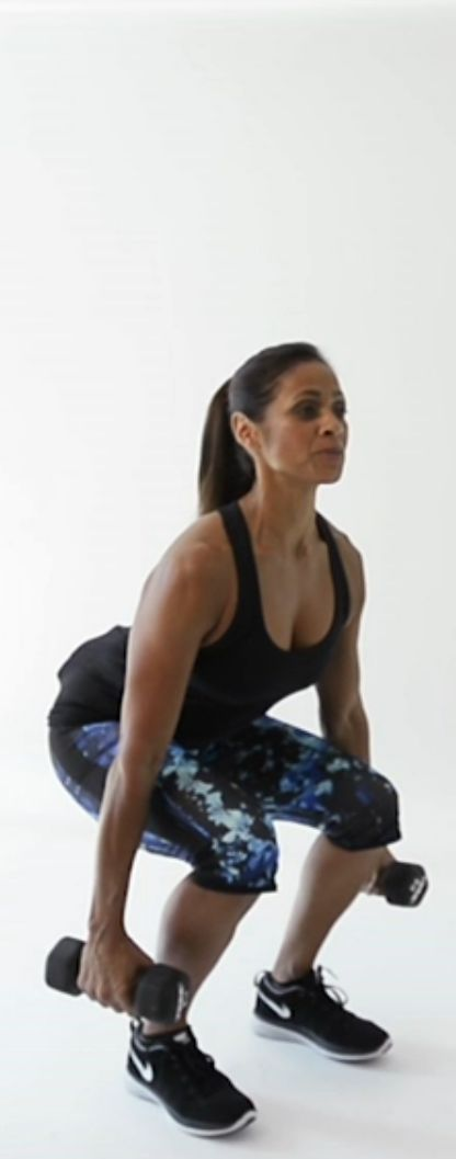 Day 8: Sculpt your butt with these weighted squat moves celebrity trainer Ramona Braganza taught both Jessica Alba and Jessica Biel #squats #strengthtraining #workouts