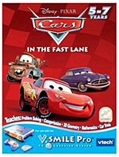 Vtech v flash home edutainment system smartdisc cars in the fast lane by