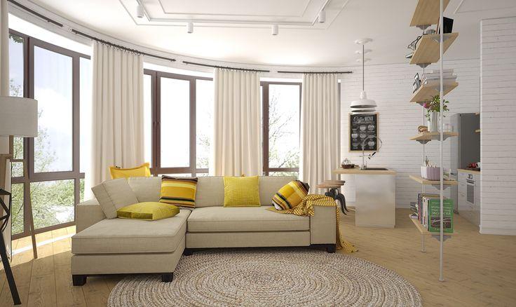 Дизайнеры из «Студии 3.14» доказали, модный современный интерьер – это необязательно дорогая дизайнерская мебель и известные бренды. Главное – умелое сочетание разных материалов и стилей