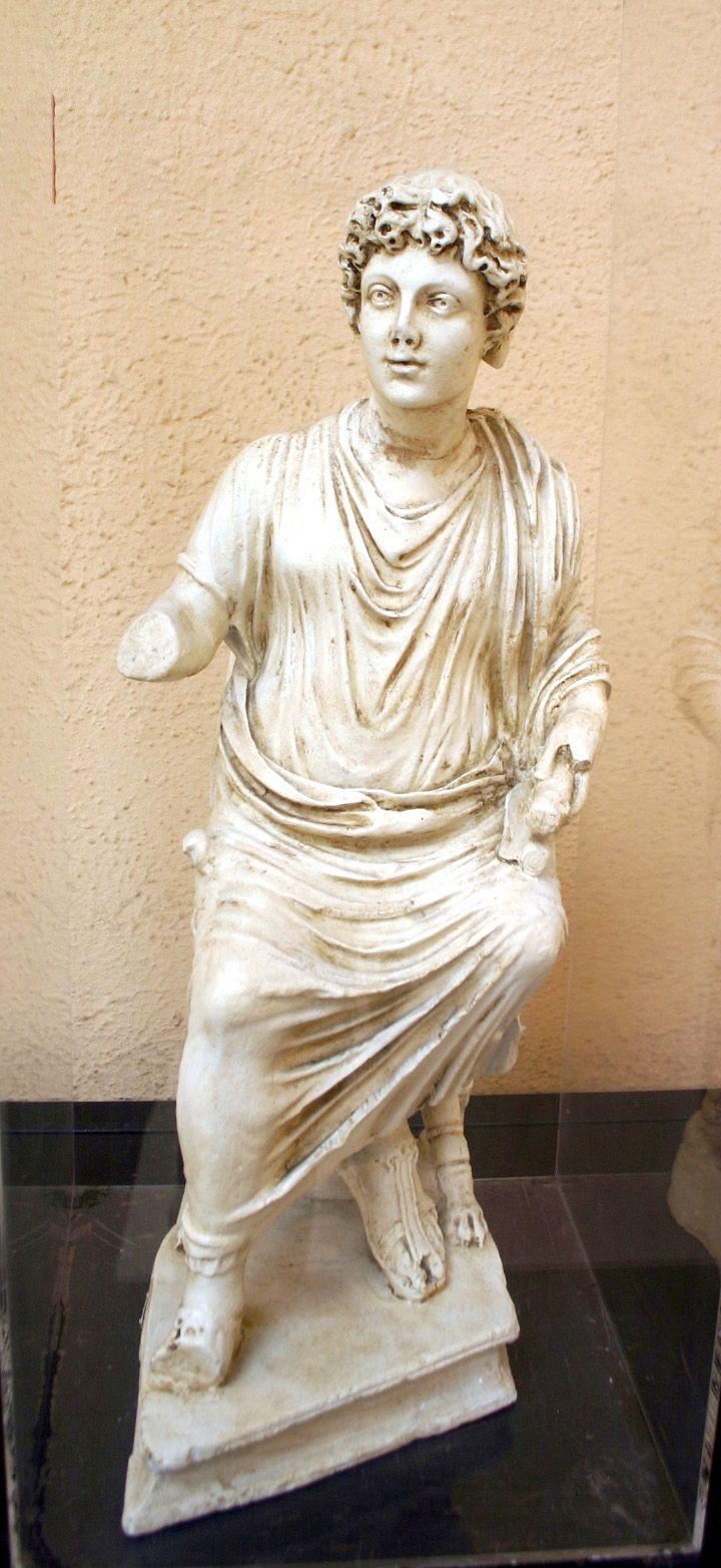 Cristo docente; IV secolo d.C.; marmo; Civita Lavinia, Roma; Museo Nazionale Romano, Roma.