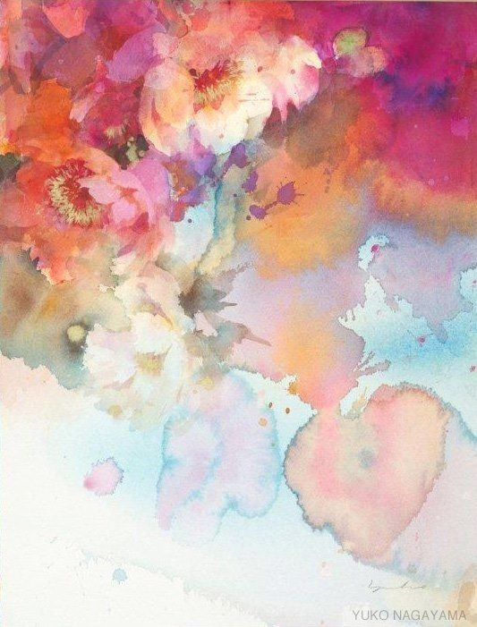 A watercolour painting like this can give you the perfect palette for a summer wedding. Yuko Nagayama. longlivelovefilms