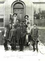 Prince Hall Masons on Mercer Street in the 1920's - Photo courtesy of Jim Allen