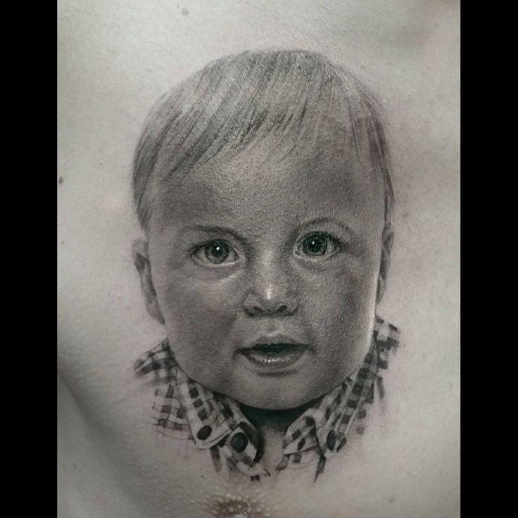 #toddler #realistic #tattoo #portrait #sweet #soft #amazing