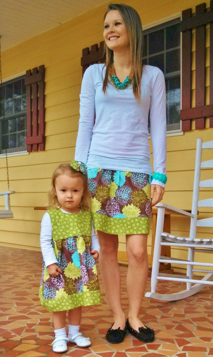 custom mommy and me outfits. $45.00, via Etsy.
