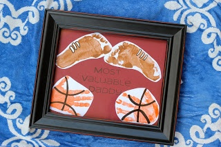 Preschool Crafts for Kids*: Father's Day Footprint Handprint Sports Craft