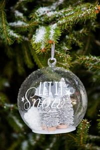 149 kr på Fjøset - LET IT SNOW SILVER FOREST ORNAMENT