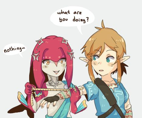 So THIS is how Mipha got Link's size :3 LOLZ!!!