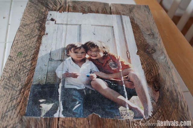 Pallet Photo Frames with Mod Podge Photo Transfer