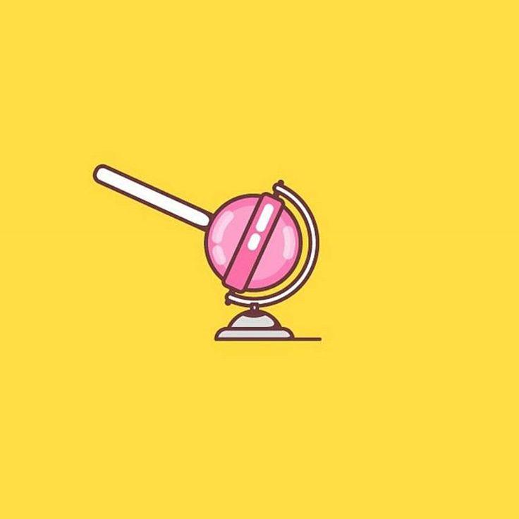 Lolipop globe design made by @atomikestudio  #logoplace #logo #design #graphic #graphicdesign #designer #pixel #creative #icon #creativity #flatdesign #illustrator #photoshop #branding