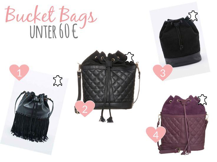 Bucket Bags under 60 € / Beuteltaschen unter 60 €