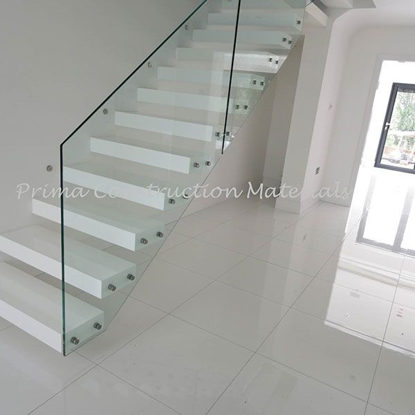 Oak Solid Wood Treads Designs Cheaper Floating Staircase Cost   Solid Wood Steps For Stairs   Staircase   Iron Rod   Oak Veneer   Rounded   Stained