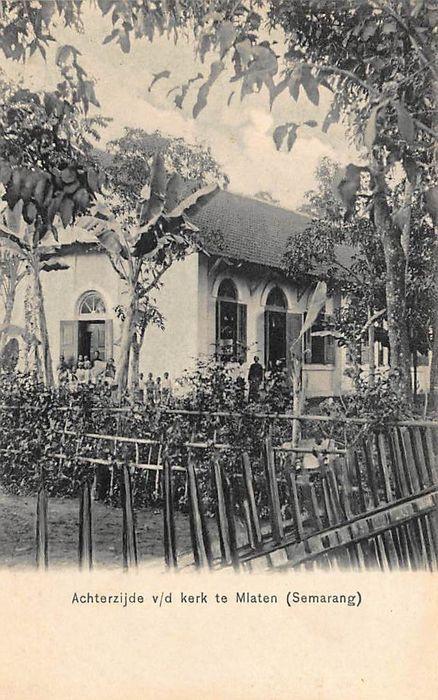 Achterzijde kerk te Mlatgen ( Semarang)