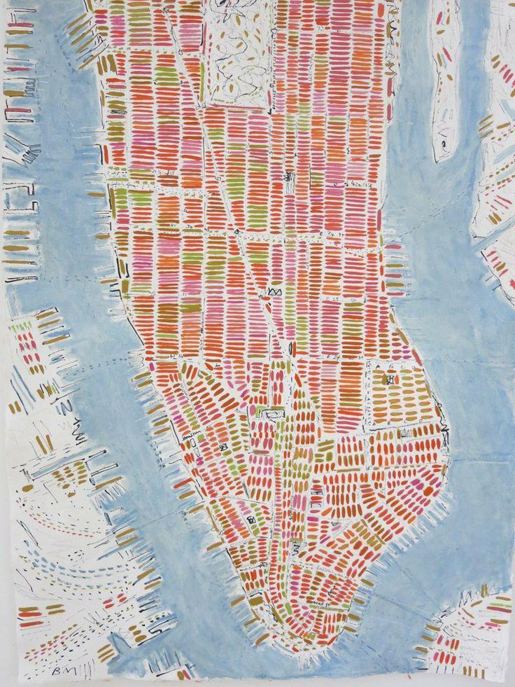 Mapa London%0A London Maps   Barbara Macfarlane  Barbara Macfarlane  Pale Manhattan         Oil and Ink on Handmade Paper