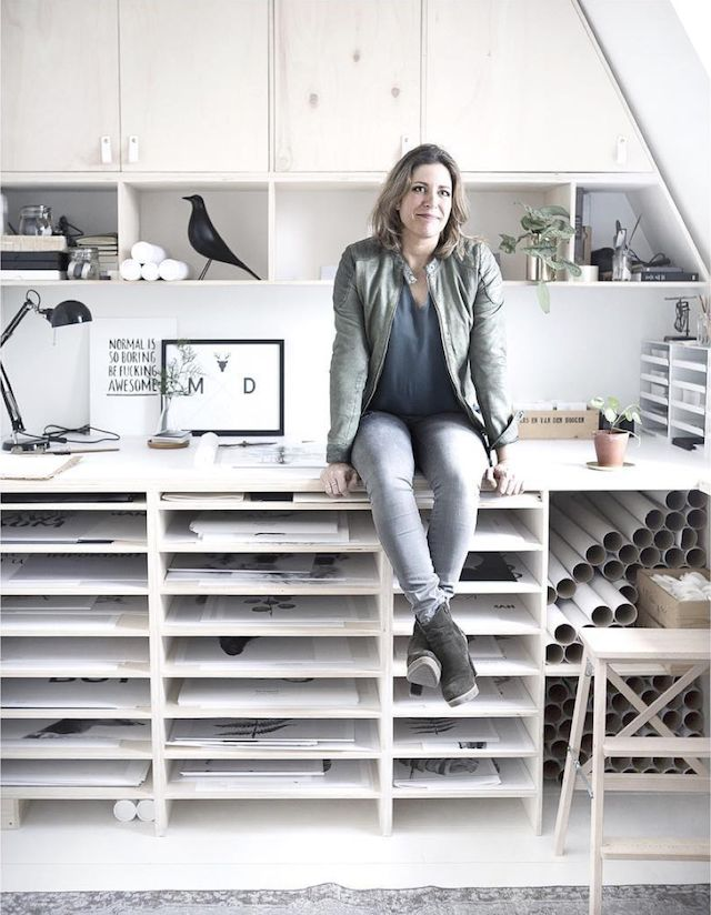 #workspace Home and studio of Dutch graphic designer & interior designer Maaike Koster in Haarlem.