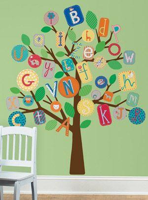 Alphabet Tree wall decal